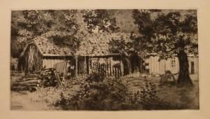"""Arent Christensen """"Uthuset""""/49x26cm/kr. 1.200,-"""