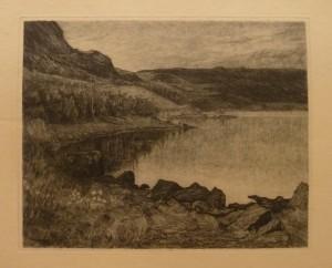"""Aagot Schøyen """"fra Strandefjord""""/41,3x33,3cm/kr. 800,-(fra mappe under)"""