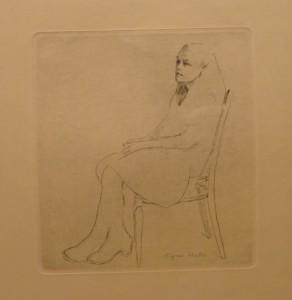 "Signe Walle ""Liten pike""/23,5x26cm/kr. 400,-(fra mappe under)"