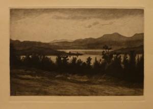 """Ragnhild Ender """"Ved Flatningen""""/43x28cm/kr. 700,-(fra mappe under)"""