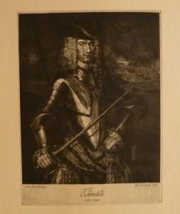 """Kristofer Eriksen """"Tordenskiold""""/24,8x33,5cm/kr. 800,-(fra mappe under)"""