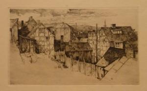 """Arent Christensen """"Hammersborg""""/38,8x23cm/kr. 1.000,-(fra mappe under)"""