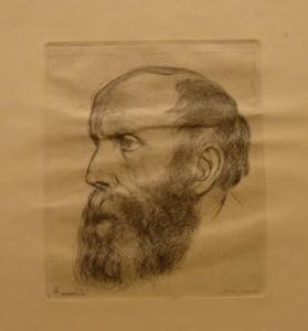 "Henry Thue ""Mandshode""/17x20cm/kr. 400,-(fra mappe under)"