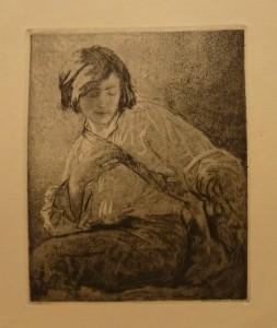 "Signe Walle ""Skizze""/21,2x26,5cm/kr. 400,-(fra mappe under)"