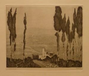 """Inger Sverdrup """"Fra Assisi""""/28x23,5cm/kr. 400,-(fra mappe under)"""