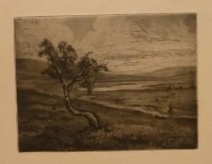 """Ragnhild Ender """"Fjellbjerk""""/29,5x22cm/kr. 300,-(fra mappe under)"""
