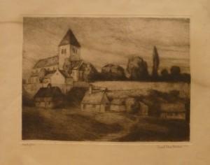 """Arent Christensen """"Høstaften""""/36,4x28cm/kr. 800,-"""