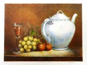 Druer og portvin/35,5x27,5cm/kr. 2.000,-