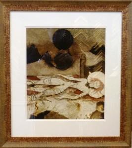 Frøya sover/Akvarell/36x41cm/Kr. 18.000,-