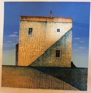 Kunstmalerens hus/65x66cm/1 ex!/Kr. 8.000,-