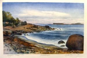 Flautangen/litografi/44x28cm/Kr. 2.400,-
