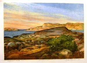 Guldkyst/litografi/42x30cm/Kr. 2.400,-