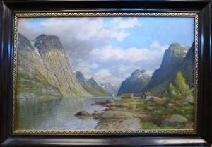 ? Rygaard/fra Sognefjorden 1935/Olje/99x69/Kr. 7.000,-