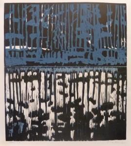 Tore Hansen/Speiling/tresnitt/1ex!/50x56,5cm/Kr. 6.000,-