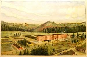 "Rudolf Borgersen lito, Oslo ""Grini""/44,5x29cm/kr. 900,-"