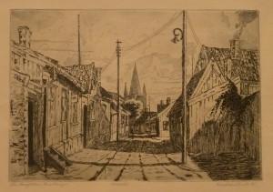 "Kristian Vindi ""fra Langeleiken, Enerhaugen""/32,7x23cm/kr. 800,-"
