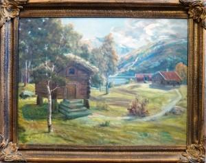 Øivind Heggtveit(1884-1961)/Stabbur/Olje/93x64cm/Kr. 4.500,-