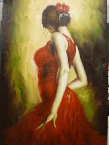 signert men ukjent italiensk kunstner/61x90,5cm/olje/kr. 3.500,- + ramme