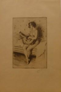 Gitarspelerska(1900)/16x25,5cm