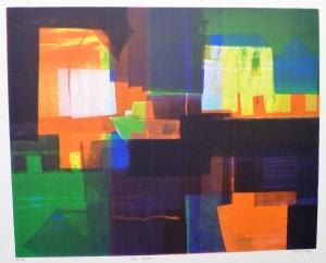 """""""Inn havn""""/litografi/50 x 40cm/1 ex!/Kr. 3.400,-"""